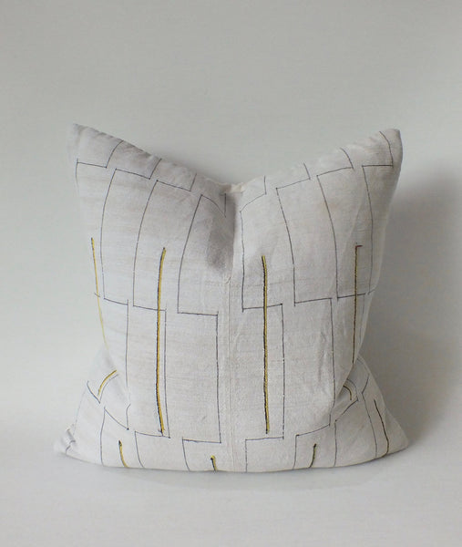 Art Deco Cream & Gold  Pillow
