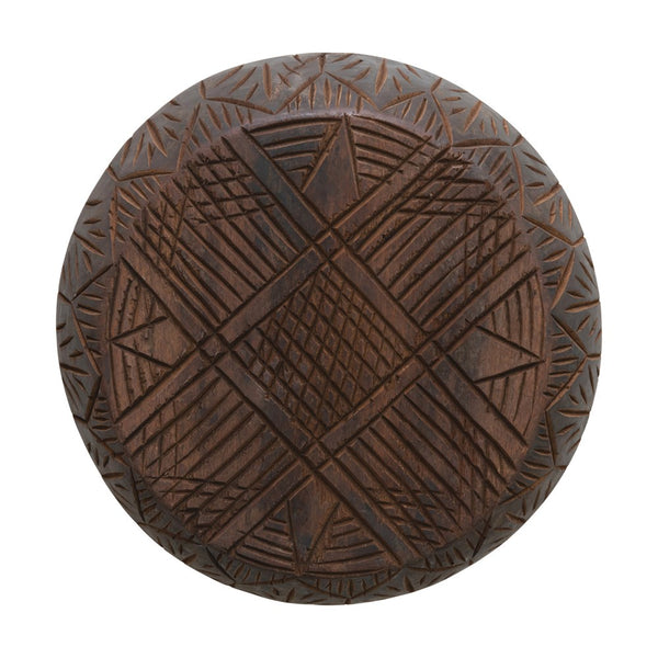 Hand Carved Wood Bowl Wall Decor