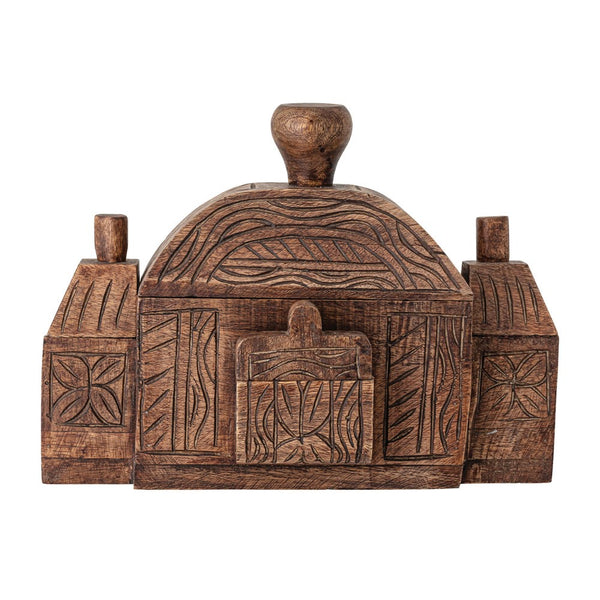 Carved Wooden Puzzle Box