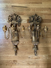 Load image into Gallery viewer, Antique Gold Sconces