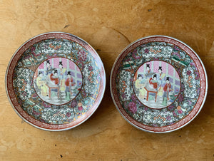 Set of 2 Antique Japanese Plates