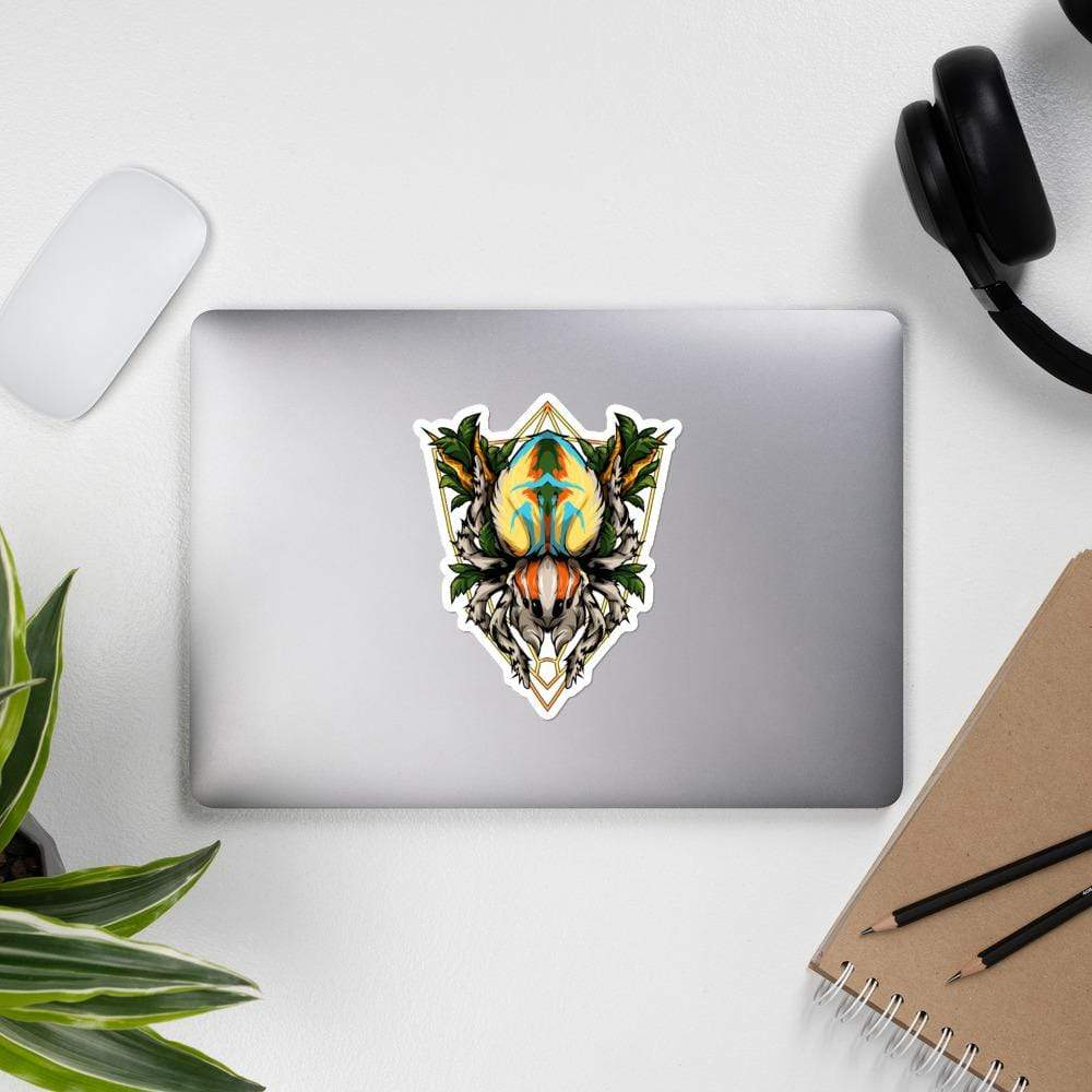 Maratus volans - Peacock spider sticker - Everything Exotic