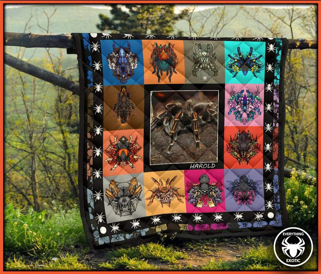 Everything Exotic Personalized Tarantula Quilt + Free PDF Tarantula Coloring Book
