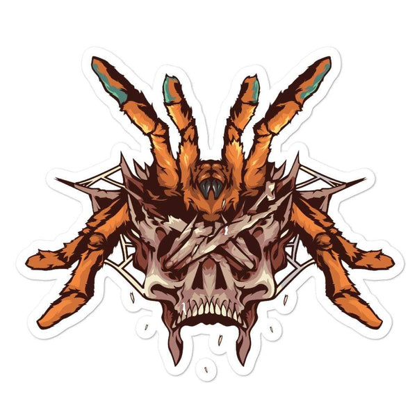 Pterinochilus Murinus Skull Sticker - Everything Exotic