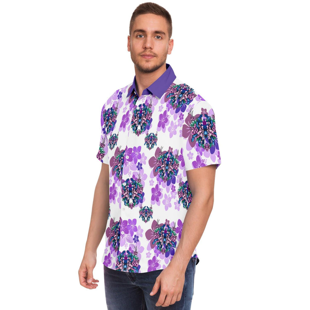 Subliminator Short Sleeve Button Down Shirt - AOP Typhochlaena seladonia - Button down shirt