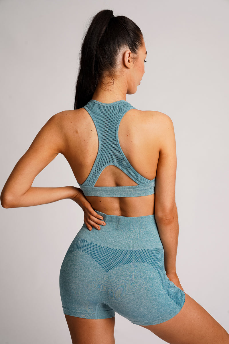Tricot Seamless Shorts - Sky Blue