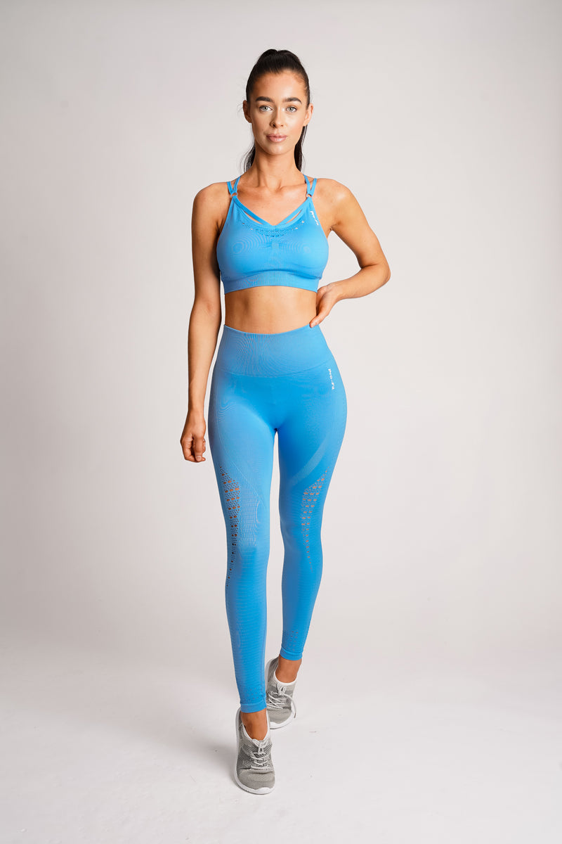 Vitality+ Seamless Leggings - Aqua Blue