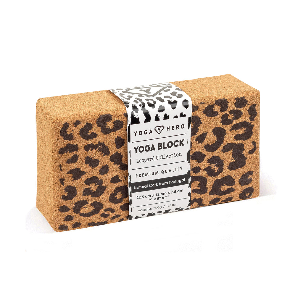 Yoga Block Leopard