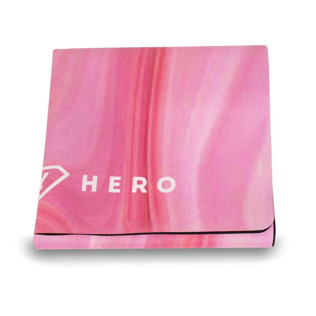 TRAVEL MAT PINK MARBLE 1mm