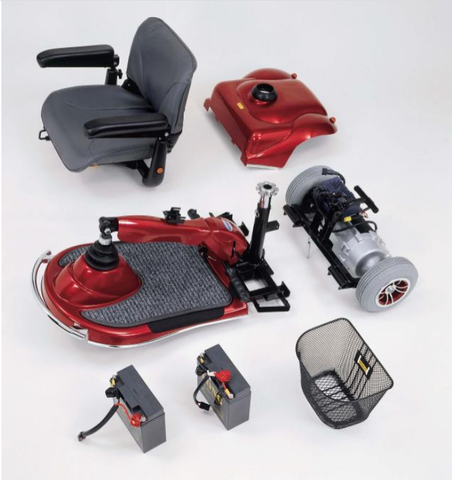 disassembled Merits Pioneer 2 S245 4-Wheel Scooter