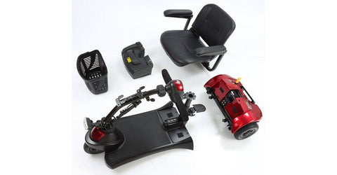 disassembled Merits Roadster 3 S731A 3-Wheel Scooter