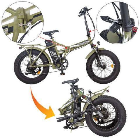 New Ecotric Fat Tire Folding Electric Bike
