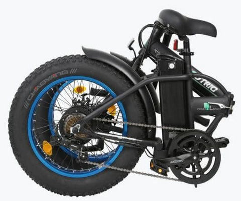 folded Ecotric 36V 500W Fat Tire Folding Electric Bike