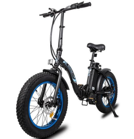 Ecotric Dolphin 500W Fat Tire Folding Step-Through Electric Bike