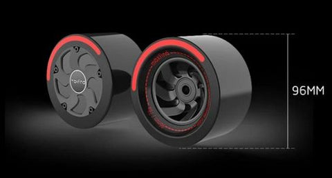 Image of wheels of Maxfind FF Electric Skateboard
