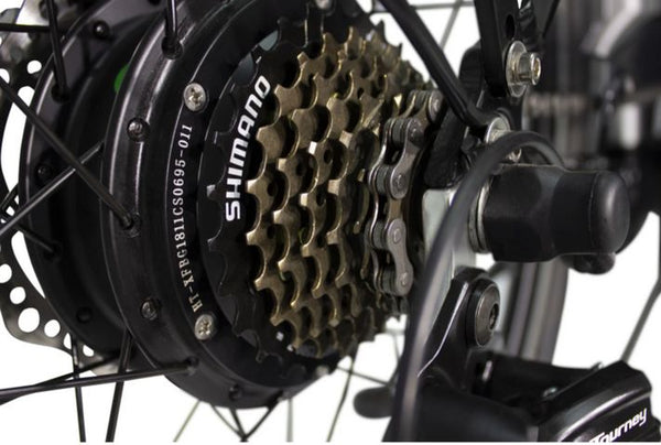 7 Speed Shimano Tourney Gears & Shifting System