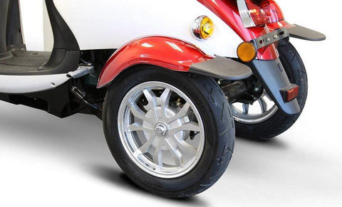 rear wheels of EW-11 Three Wheel Euro Style Electric Scooter