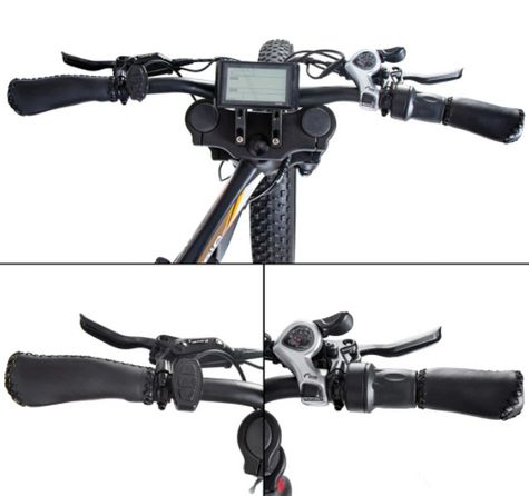 Ecotric Bison handlebar, shifter and throttle