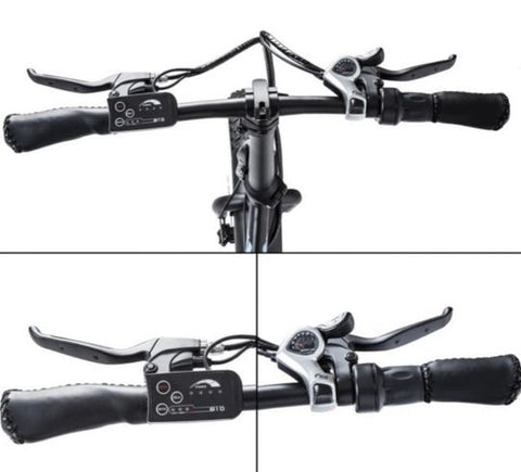 Ecotric Dolphin handlebar, throttle and shifter