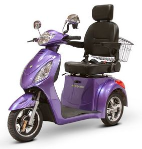 purple EW-36 Three Wheel Electric Mobility Scooter
