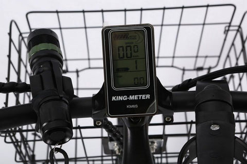 X-Treme Catalina Beach Cruiser Electric Bike LCD display