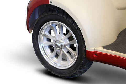 "Image of 15"" tubeless tires of E-Wheels EW-52 Four Wheel Designer Electric Mobility Scooter"