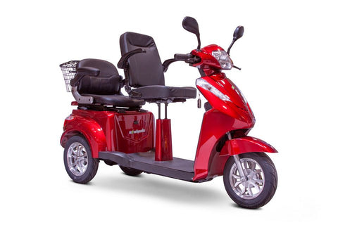 Image of E-Wheels EW-66 Red Three Wheel 2-Passenger Electric Scooter