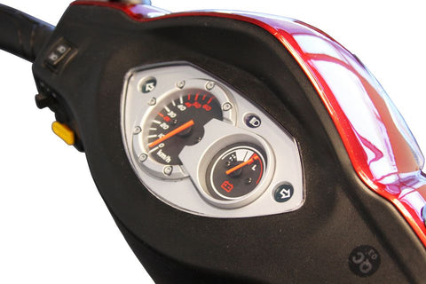 Image of Dashboard of E-Wheels EW-66 Red Three Wheel 2-Passenger Electric Scooter