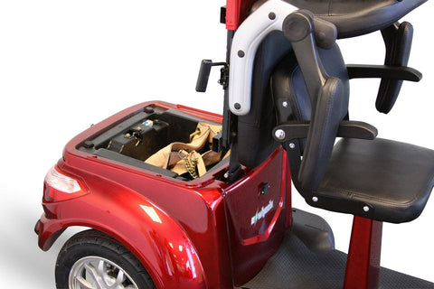 Image of compartment of E-Wheels EW-66 Red Three Wheel 2-Passenger Electric Scooter