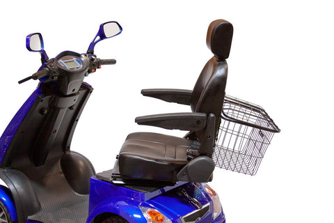 Image of fully adjustable seat of EW-72 Four Wheel Full Suspension Electric Scooter