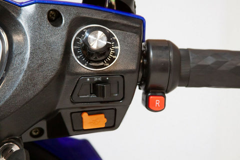 Image of reverse switch of E-Wheels EW-72 Four Wheel Full Suspension Electric Scooter with 700-Watt Motor