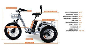 anywhere trike dimensions