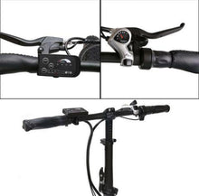 Load image into Gallery viewer, Ecotric 36V 500W Fat Tire Folding Electric Bike handlebars