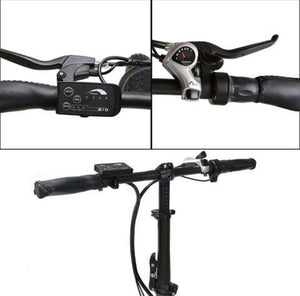 Ecotric 36V 500W Fat Tire Folding Electric Bike handlebars