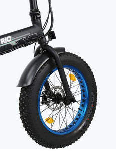Ecotric 36V 500W Fat Tire Folding Electric Bike front tire