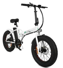 Load image into Gallery viewer, Ecotric 36V 500W Fat Tire Folding Electric Bike (white)