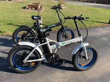 Load image into Gallery viewer, Ecotric 36V 500W Fat Tire Folding Electric Bike (black and white)