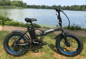 Ecotric 36V 500W Fat Tire Folding Electric Bike (black)