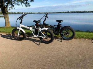 Ecotric 36V 500W Fat Tire Folding Electric Bikes
