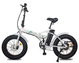Ecotric 36V 500W Fat Tire Folding Electric Bike (white)