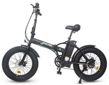 Load image into Gallery viewer, Ecotric 48V 500W Fat Tire Folding Electric Bike (black)