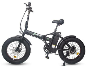 Ecotric 48V 500W Fat Tire Folding Electric Bike (black)
