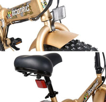 Load image into Gallery viewer, Ecotric Fat Tire Folding Electric Bike saddle and headlight