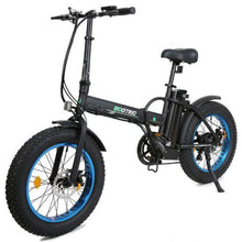 Load image into Gallery viewer, Ecotric 48V 500W Fat Tire Folding Electric Bike (blue)