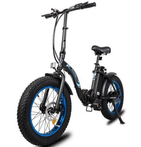 Ecotric Dolphin Fat Tire Folding Step-Through Electric Bike (black)