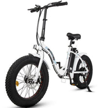 Load image into Gallery viewer, Ecotric Dolphin Fat Tire Folding Step-Through Electric Bike (white)