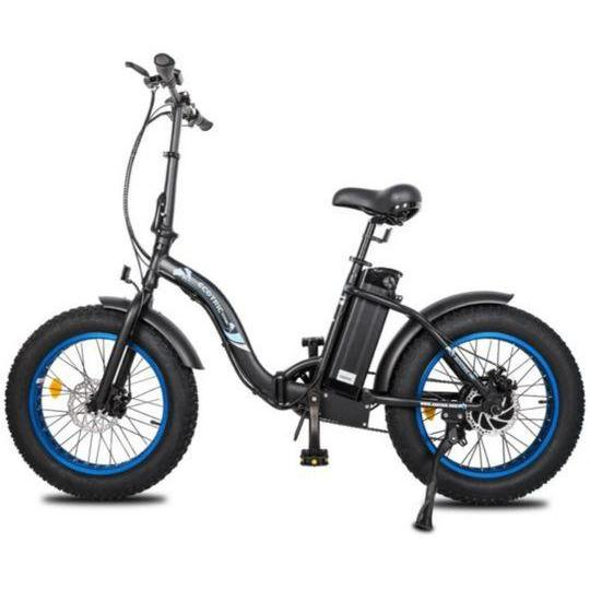 Ecotric Dolphin 500W Fat Tire Folding Step-Through Electric Bike (black)