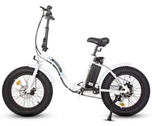 Load image into Gallery viewer, Ecotric Dolphin 500W Fat Tire Folding Step-Through Electric Bike (white)