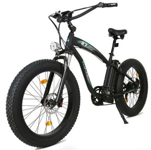 Ecotric Hammer Electric Fat Tire Cruiser Bike (black)