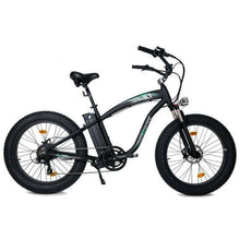 Load image into Gallery viewer, Ecotric Hammer 48V 1000W Electric Fat Tire Cruiser Bike (black)